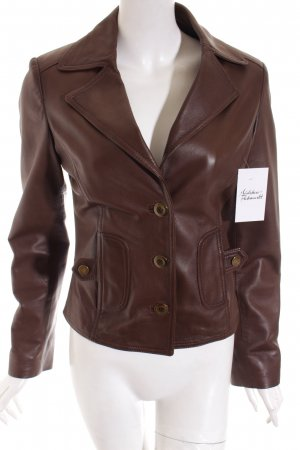 Donna Carolina Leather Jacket brown classic style