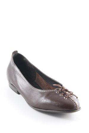 Donna Carolina Mocassins brun-marron clair Éléments en cuir