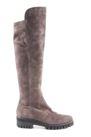 Donna Carolina Stivale cuissard marrone-grigio stile casual