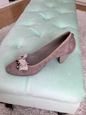 Donna Carolina Pumps grey brown-beige suede