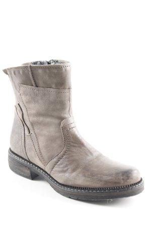 62a237ba947c Donna Carolina Reißverschluss-Stiefeletten graubraun schlichter Stil