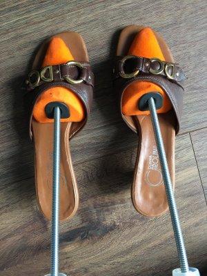 Donna Carolina Heel Pantolettes brown