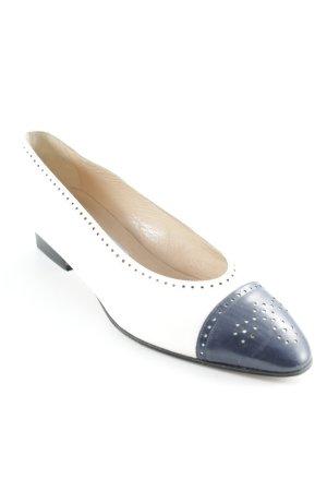 Donna Carolina Loafers wit-donkerblauw zakelijke stijl
