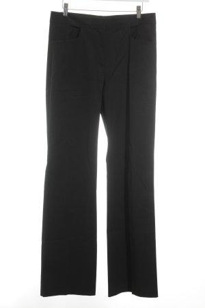 Donna Karan Pantalone a pieghe nero stile semplice