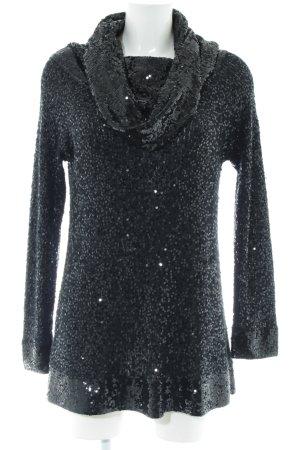 Donna Karan Sudadera de cachemir negro look efecto mojado