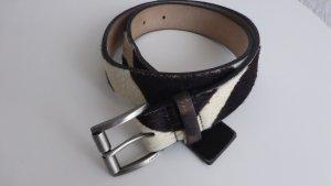 DKNY Cintura di pelle nero-oro Pelle