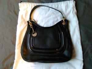 Donna Karan Handtasche Leder schwarz