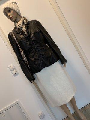Donna Karan Veste en cuir noir