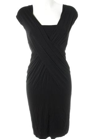 Donna Karan Jerseykleid schwarz Casual-Look