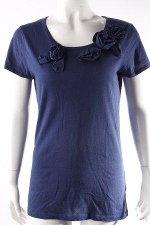 Donna Karan New York T-Shirt mit Blumenapplikation