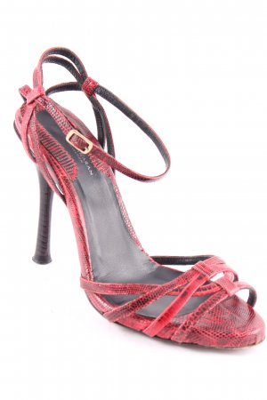 Donna Karan Strapped High-Heeled Sandals black-red elegant