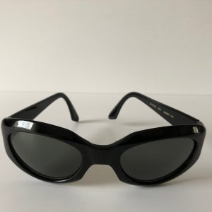 Donna Karan Oval Sunglasses black synthetic material