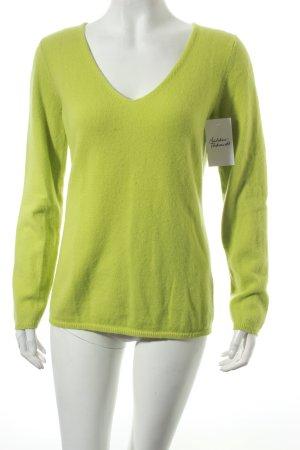 Donna Lane Cashmerepullover hellgrün klassischer Stil