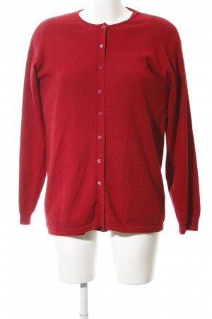 Donna Lane Knitted Twin Set dark red simple style
