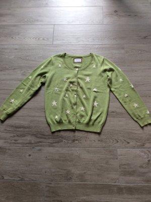 Donna Lane Strickjacke Gr L grün mit Sternen