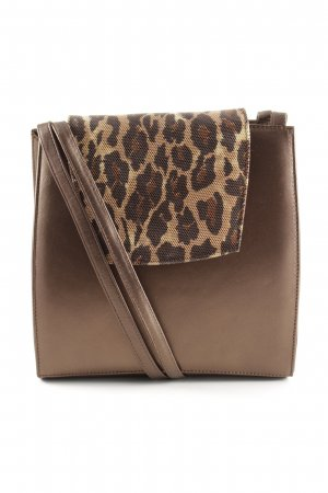 Donna Laura Handtasche bronzefarben Leomuster Business-Look