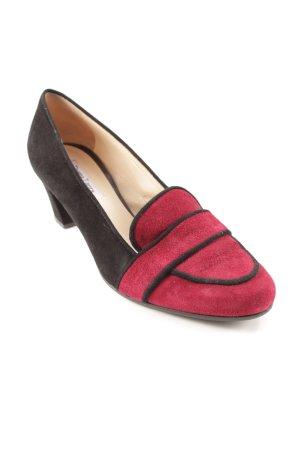 Donna Laura Tacco alto nero-rosso scuro stile stravagante