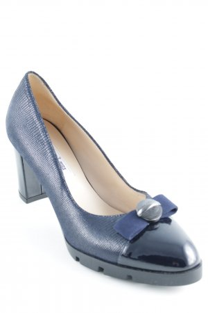 Donna Laura Spitz-Pumps dunkelblau Business-Look