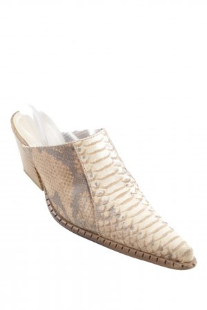 Donna Piu Heel Pantolettes animal pattern reptile print