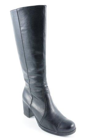 Donna Piu Absatz Stiefel schwarz schlichter Stil