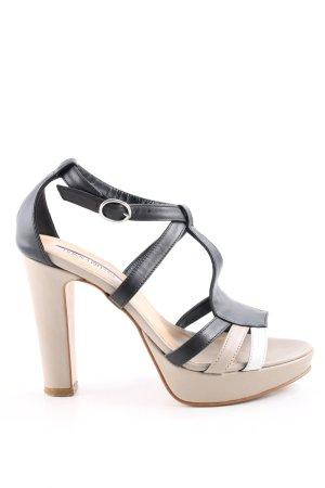 Donna Piu T-Strap Pumps cream-black casual look