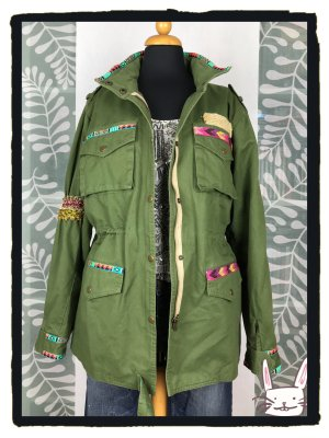 Conleys Parka multicolore Cotone