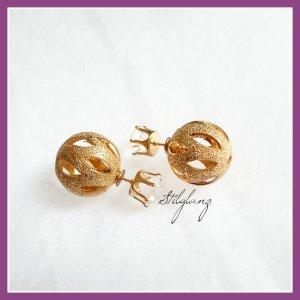 Doppel perlen Ohrstecker gold Farben