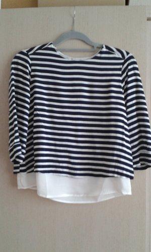 Mango casual Stripe Shirt white-dark blue