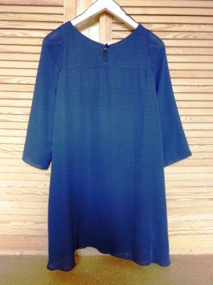 Doppellagiges Kleid von Zara Basic S blau schwarz marine