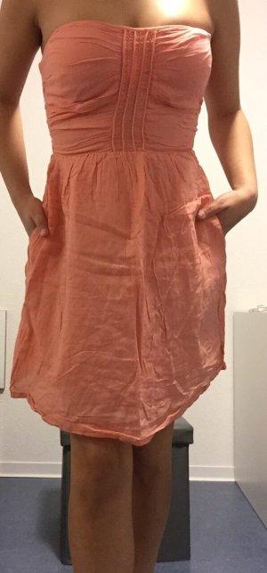 Doppellagiges Minikleid Lachsfarben