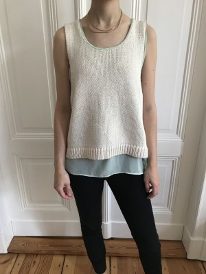 COS Knitted Top mint-oatmeal