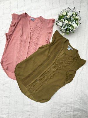 Doppelpack: 2 H&M Blusentops, Rosa & Olive
