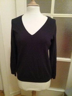 Doppelpack dünne Langarmpullover / Sweatshirts dunkelblau und taupe