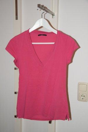 Doppelpack: Shirt mit V-Ausschnitt pink & braun