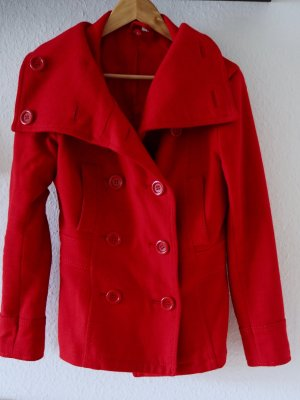 Doppelreihiger Mantel, rot, kurz