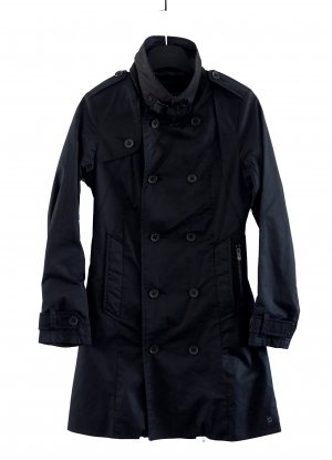 G-Star Raw Trench Coat black mixture fibre