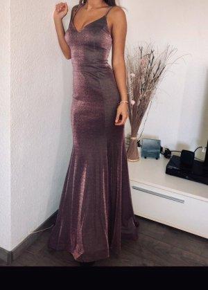 Doridorca Abendkleid in lila mit Glitzer