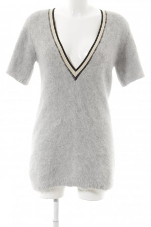 Dorothee Schumacher Angora V-Ausschnitt-Shirt / Kleid College-Look neuwertig