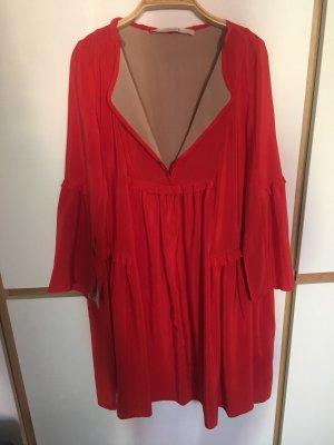 Dorothee Schumacher Babydoll Dress red-brick red