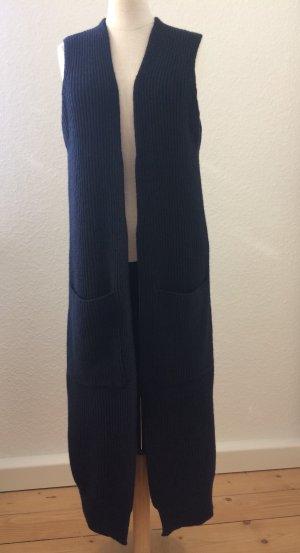 Dorothee Schumacher Manteau en tricot bleu foncé