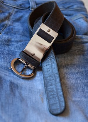 Dorothee Schumacher Leather Belt black-silver-colored leather