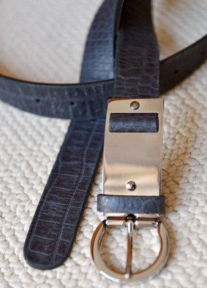 DOROTHEE SCHUMACHER Gürtel mit Metallschließe 75 XS/S schwarz Leder Neu Reptillook