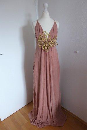 Dorothee Schumacher Kleid Maxikleid Sommer Ibiza Boho Hippie nude rose braun Gr. 4 L XL 40 42 NEU