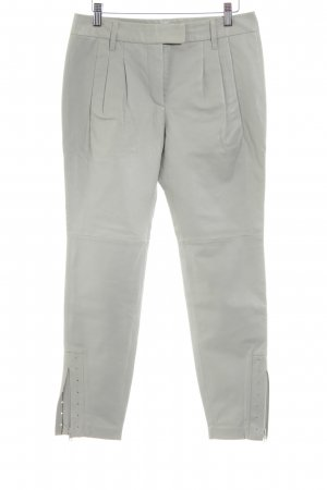 Dorothee Schumacher Pantalone in pelle grigio chiaro stile casual