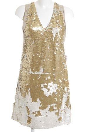 Dorothee Schumacher Pailettenkleid weiß-goldfarben Mustermix 20ies-Stil