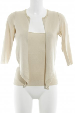Dorothee Schumacher Knitted Twin Set cream casual look