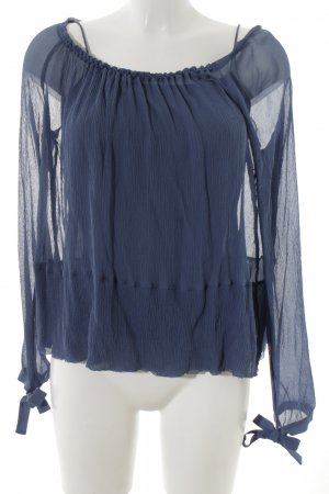 Dorothee Schumacher Transparenz-Bluse kornblumenblau Elegant