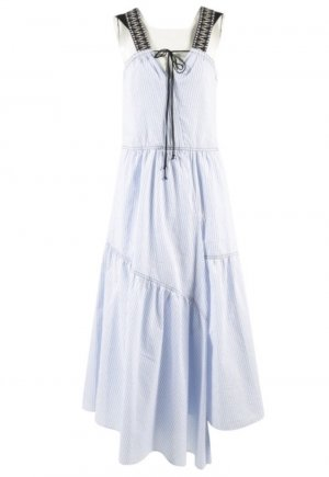 Dorothee Schumacher Maxi abito bianco-azzurro