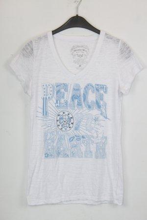 Dorothy Blue shirt Gr.M weiß mit blauem Print und Strass Steinchen (18/5/139)