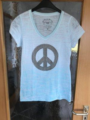 Dorothy Blue T-Shirt mint/hellblau Aufdruck Peace Gr S